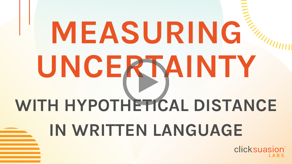 Measuring Uncertainty with Hypothetical Distance in Written Language