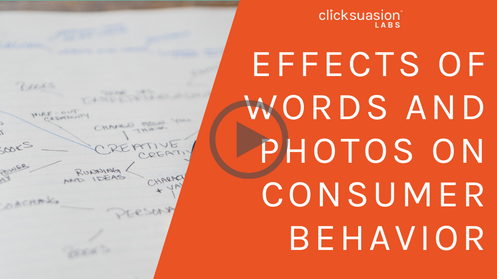 Effects of Words and Photos on Consumer Behavior